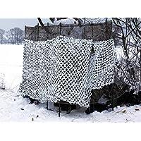 Mil-Tec Crazy Camo - Rete per camuffamento, 2,0 x 3,0 m, colore: Bianco