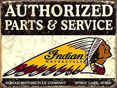 Wise Degree Indian Motorcycle and Service Metall Poster Wand Küche Kunst Cafe Garage Shop Bar Dekoration
