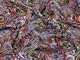 Paisley Print Chiffon Kleid Stoff lila–Meterware