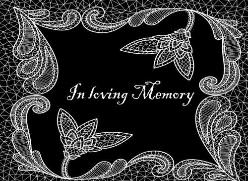 In Loving Memory: Funeral Guest Book, Memorial Guest Book, 8.25