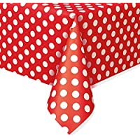Plastic Polka Dot Tablecloth, 9ft x 4.5ft
