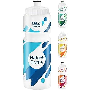 HiLo sports Fahrrad Trinkflasche   Rohstoff Zuckerrohr   BPA frei   750 ml