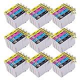 PerfectPrint Kompatibel Tinte Patrone Ersatz für Epson Stylus Office BX305F BX305FW Plus BX305FW Stylus S22 SX125 SX130 SX230 SX235W SX420W SX425W SX430W SX435W SX438W SX440W (Schwarz/Cyan/Magenta/Gelb , 36-Pack)