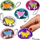 German-Trendseller ® 12 x porte-monnaies papillon ┃pour enfants┃ petit cadeau┃ l'anniversaire d'enfant┃ mini bourse┃ diffèrentes couleurs
