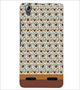 PrintDhaba Owl pattern D-1865 Back Case Cover for LENOVO A6000 PLUS (Multi-Coloured)