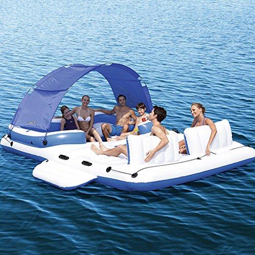 Hochwertige Pool Float Schwimmendes Bett Großes aufblasbares sich hin- und herbewegendes Boots-Wasser befestigt sich hin- und herbewegendes Bett, Swimmingpool-Floss-aufblasbares Spielzeug-Erwachsener u. Kind, das Bett-Wasser-Erholungs-Stuhl 3.89 * 2.74m schwimmt KKY-ENTER