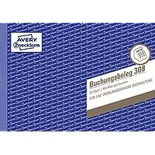 Avery Zweckform 308 Buchungsbeleg (A5 quer, mikroperforiert, 50 Blatt) weiß
