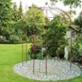 Rosenpavillon Metall 270 Höhe Rankhilfe Gartenpavillon Rankgitter Rosenbogen von 1a-handelsagentur auf Du und dein Garten
