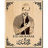 Engraveindia Unique Gift For Eid For Dear One's- Personalise Engrave Wooden Photo Frame/Plaque (5x4 Inch)