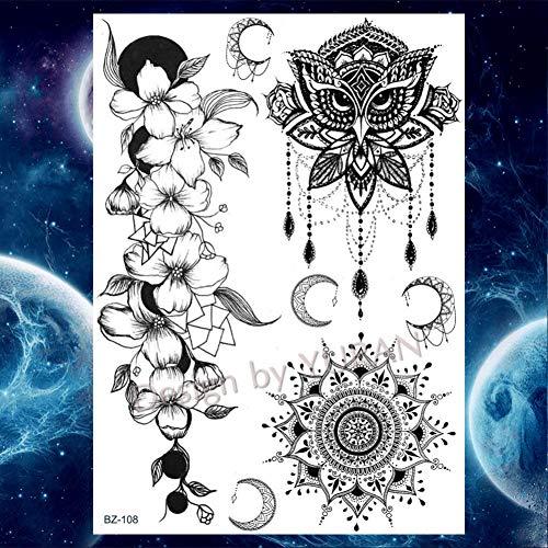 GHHCG Armband Tribal Flower Tattoos Aufkleber Frauen Wasserdicht Temporäre Arm Tattoo Mädchen Make-Up Tipps, Gbz108