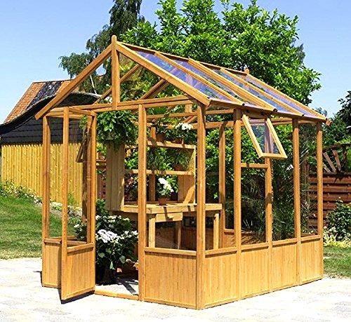 Gewächshaus MAINAU Gartenhaus 236x252x261cm - Kiefer massiv imprägniert NEU