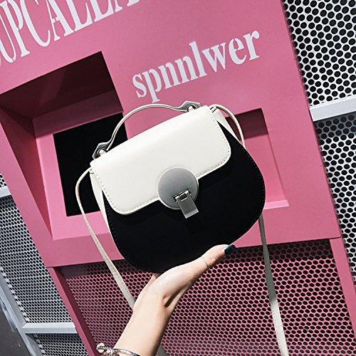 Damenbekleidung Hardware Griff Schlag Farbe Lock Tasche Schulter Messenger Bag Mode Einfaches Paket Weiß