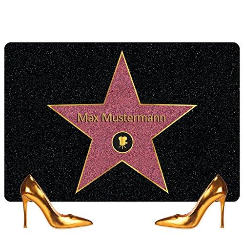 GeschenkIdeen.Haus - Walk of Fame - Personalisierte Hollywood-Fußmatte mit Namen
