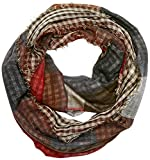 s.Oliver Herren Schal 97709915018, Rot (Red Check 30N1), One Size
