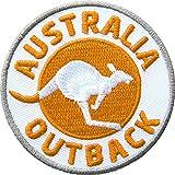 Club-of-Heroes 2 x Abzeichen gestickt 60 mm/Australien Outback/Applikation Aufnäher Aufbügler Flicken Badge Bügelbild/Iron on Patch für Kleidung Tasche Rucksack