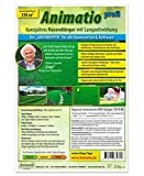 Rasendünger mit Langzeitwirkung in Profi-Qualität - Animatio profi Rasendünger Universal-Rasendünger organisch mineralisch für einen dichten und saftig grünen Rasen in Profi Greenkeeper-Qualität, Inhalt:25 kg