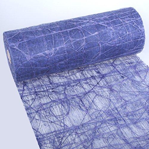 Dekoweb runner da tavola–nastro–blu scuro–larghezza 30cm–lunghezza 15m + 100gespiegelte decorazione cuori gratis–54–300–15–035
