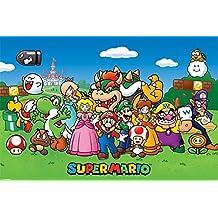 Super Mario Póster (tamaño grande), diseño de personajes, madera, multicolor
