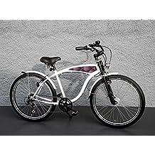 '26pulgadas bicicleta eléctrica Beach Cruiser bicicleta 7velocidades Shimano dinamo de buje Fat Frank piel