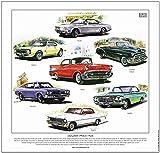 goldenera Chevrolet Autos der 50er/60er Jahre–- Fine Art Print Bel-Air, Impala, Camaro, Corvair, Nova, Chevelle & style-line