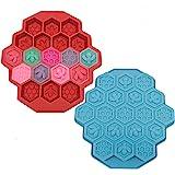 Lot de 2 moules à gâteau en silicone avec 19 cavités en forme d'abeilles pour enfants (couleur aléatoire)