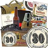 30. Geburtstag | DDR Geschenkbox | mit 7 unterschiedlichen NVA Produkten | INKL Aufkleber - 30. Geburtstag