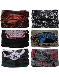 Sea Team, bandana, fazzoletto multifunzione, per fronte, 12 tipi, 6 pezzi