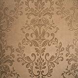 Muriva 701309 - Bronze Damast-Tapeten-