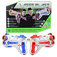 ToyStar Laser Blast X - 2000 Infrared Battle Tag 2 Player Electronic Gun Blaster Game