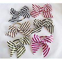 Pack de 6 coleteros con lazo de tela de rayas. Envío GRATIS 72h 41c406ec4782