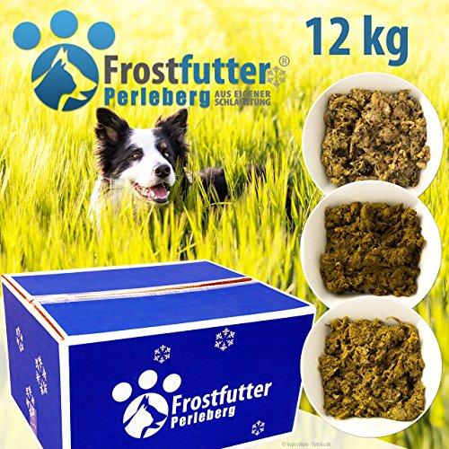 Frostfutter Perleberg Grünes Paket 12 Kg inklusive Grüner Pansen, Blättermagen und Pansenmix