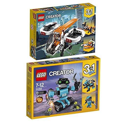 Lego Creator 3-in-1 2er Set 31062 31071 Forschungsroboter + Forschungsdrohne