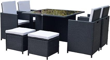 Polyrattan Lounge Gartenmöbel Set Garnitur Sitzgruppe Gartenmöbel SJ08