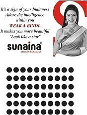 Sunaina Sticker Kumkum Black Velvet B-6 Round Bindis for Women [SKB006]