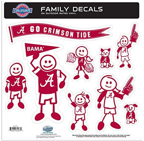 Alabama Crimson Tide Große Familie Aufkleber Set