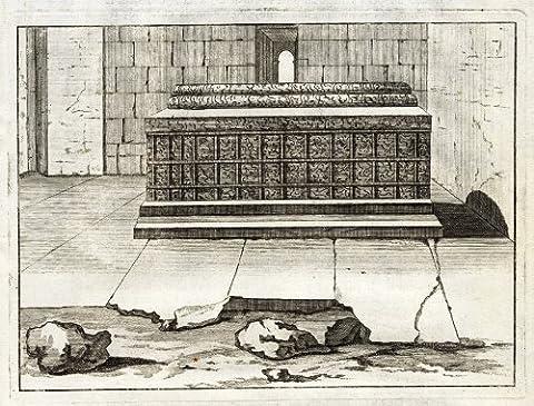 ThePrintsCollector Antique Affiche Tomb-Cercueil-Temple-Persia-De - 1718 Bruyn