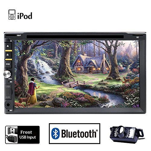 Hinten Kamera im lieferumfang enthalten Bluetooth Doppel DIN Auto Stereo In-Dash Head Unit Auto DVD Player mit Touch Screen LCD Monitor Multimedia System unterstützt DVD/CD/MP3/USB/SD/AM/FM/RDS Radio/Hände frei Bluetooth/Stereo/Audio Autoradio mit HD: 800* 480LCD + Win 6Betriebssystem + iPod + Analog TV