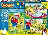 Schmidt Spiele 56208 - Puzzle Benjamin Blümchen Sommerzeit, 3 x 48 Pezzi