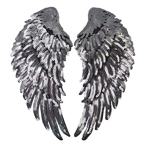 Parche planchar alas bordadas lentejuelas ropa, decoración