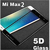 Marshland 5D, 9H, Oil-Repel Coating, Anti-Shatter, Anti-Explosion, Bubble-Free Edge to Edge Tempered Glass Screen Protector for Mi Max 2(Black)