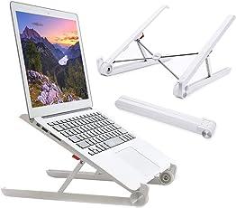Laptopständer,Elekin® [Original] Faltbarer Notebook Ständer, Augen-Niveau Ergonomisches Sitz für Macbook-Computer, leicht für Büro und Reisen (Silber)