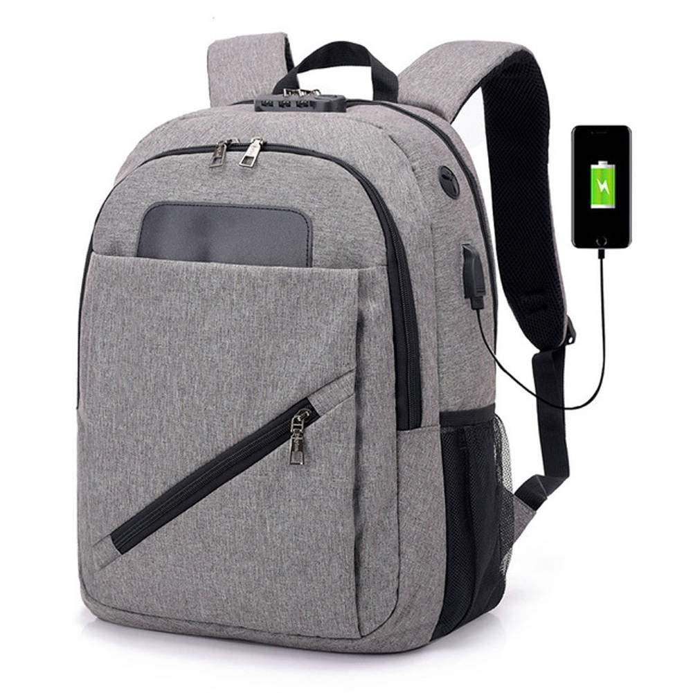 BEIBAO Dama Mochila Inteligente USB Interface recargar Mochila Hombre Gran Capacidad Impermeable 15,6 Pulgadas Viajero Estudiante contraseña Paquete(Violeta,Azul,Negro y Gris)