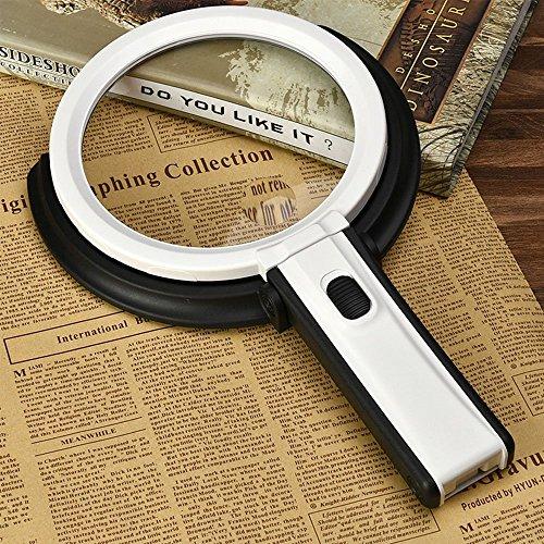 ug-In desk-type Doppelfunktion Handheld-Vergrößerer beleuchtet Lesung Lupe Objektiv Schmuck Lupe Set mit 5x Power Spots Objektiv (Batterie und der Stecker nicht im Lieferumfang enthalten) ()