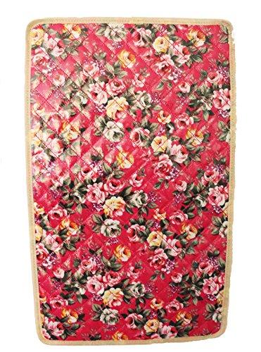 Floral Wachstuch Baby Changer Wickeltasche mit Wickelunterlage, Flaschenhalter Wickeltasche 4PC Set rose