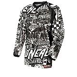 O´Neal Motocross Shirt Jersey Trikot Wild schwarz weiß für Kinder Größe 152/164