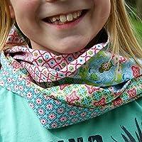 Kinder-Loop Schlauch-Schal rosa & blau & bunt >>>IDEE für den KINDERGEBURTSTAG
