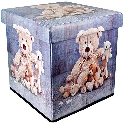 Promobo Sitzsack Décor Bären Teddys Hocker Aufbewahrungskiste Aufbewahrung Riesen 34x 34x...