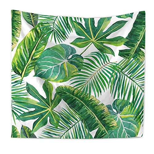 Tapisserie Digital Print Pflanze Baum Blatt Wallpaper Strand Schal,#4,150X130cm