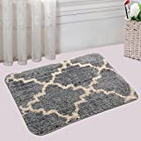 Saral Home Soft Anti Slip Microfiber Bathmat (Grey, 40 x 60 cm)