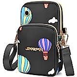 PALAY® Small Cross Body Bag, Multifunction 3 Layer Mini Crossbody Shoulder Bag Phone Purse Armband with Headphone Port for Te